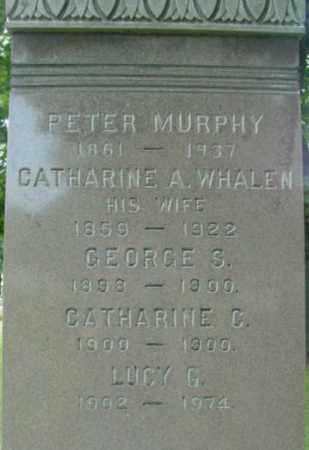 WHALEN MURPHY, CATHARINE A - Berkshire County, Massachusetts | CATHARINE A WHALEN MURPHY - Massachusetts Gravestone Photos