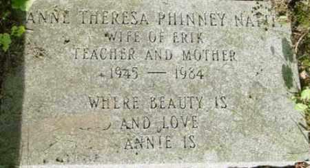 PHINNEY NATTI, ANNE THERESA - Berkshire County, Massachusetts | ANNE THERESA PHINNEY NATTI - Massachusetts Gravestone Photos