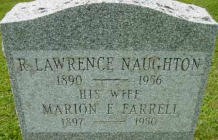 NAUGHTON, MARION E - Berkshire County, Massachusetts | MARION E NAUGHTON - Massachusetts Gravestone Photos