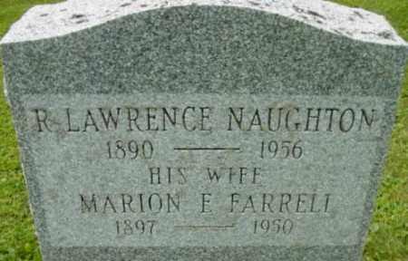 FARRELL NAUGHTON, MARION E - Berkshire County, Massachusetts | MARION E FARRELL NAUGHTON - Massachusetts Gravestone Photos
