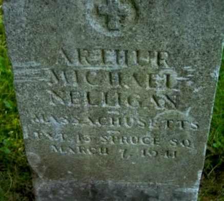 NELLIGAN, ARTHUR MICHAEL - Berkshire County, Massachusetts | ARTHUR MICHAEL NELLIGAN - Massachusetts Gravestone Photos