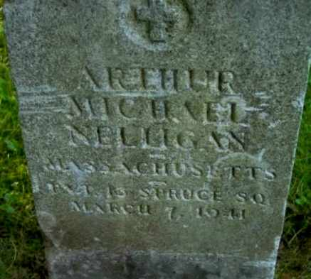 NELLIGAN (WWI), ARTHUR MICHAEL - Berkshire County, Massachusetts   ARTHUR MICHAEL NELLIGAN (WWI) - Massachusetts Gravestone Photos