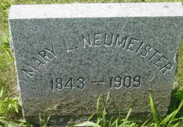 NEUMEISTER, MARY L - Berkshire County, Massachusetts | MARY L NEUMEISTER - Massachusetts Gravestone Photos