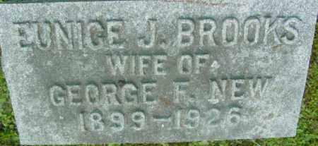 BROOKS, EUNICE J - Berkshire County, Massachusetts | EUNICE J BROOKS - Massachusetts Gravestone Photos