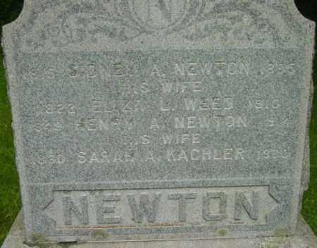 NEWTON, SARAH A - Berkshire County, Massachusetts | SARAH A NEWTON - Massachusetts Gravestone Photos
