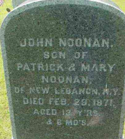 NOONAN, JOHN - Berkshire County, Massachusetts | JOHN NOONAN - Massachusetts Gravestone Photos