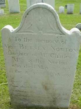 NORTON, BETSEY - Berkshire County, Massachusetts   BETSEY NORTON - Massachusetts Gravestone Photos