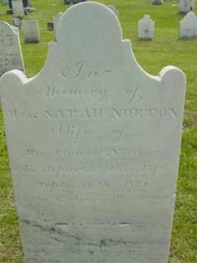 NORTON, SARAH - Berkshire County, Massachusetts | SARAH NORTON - Massachusetts Gravestone Photos