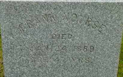 NOURSE, FRANK - Berkshire County, Massachusetts   FRANK NOURSE - Massachusetts Gravestone Photos
