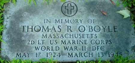 O'BOYLE (WWII), THOMAS R - Berkshire County, Massachusetts   THOMAS R O'BOYLE (WWII) - Massachusetts Gravestone Photos