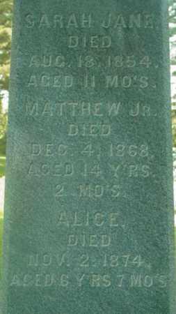 O'CONNOR, SARAH JANE - Berkshire County, Massachusetts | SARAH JANE O'CONNOR - Massachusetts Gravestone Photos