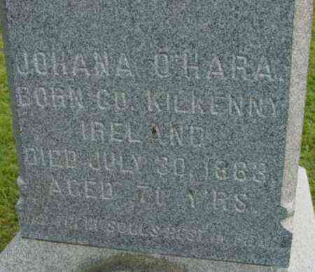 O'HARA, JOHANA - Berkshire County, Massachusetts   JOHANA O'HARA - Massachusetts Gravestone Photos