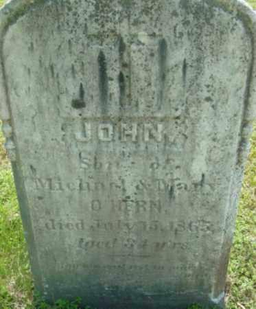 O'HERN, JOHN - Berkshire County, Massachusetts   JOHN O'HERN - Massachusetts Gravestone Photos