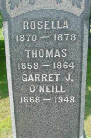 O'NEILL, GARRET J - Berkshire County, Massachusetts | GARRET J O'NEILL - Massachusetts Gravestone Photos