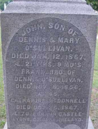 O'SULLIVAN, JOHN - Berkshire County, Massachusetts | JOHN O'SULLIVAN - Massachusetts Gravestone Photos