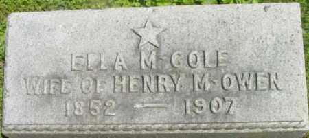 COLE, ELLA M - Berkshire County, Massachusetts | ELLA M COLE - Massachusetts Gravestone Photos