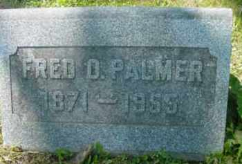 PALMER, FRED D - Berkshire County, Massachusetts | FRED D PALMER - Massachusetts Gravestone Photos