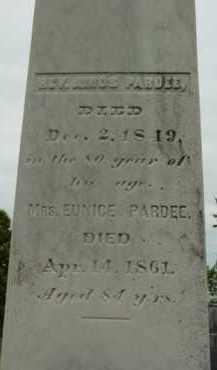 PARDEE, EUNICE - Berkshire County, Massachusetts | EUNICE PARDEE - Massachusetts Gravestone Photos