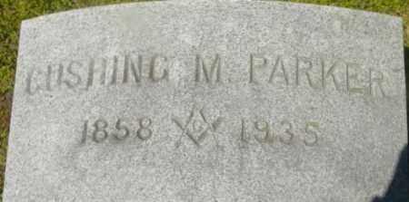 PARKER, CUSHING M - Berkshire County, Massachusetts | CUSHING M PARKER - Massachusetts Gravestone Photos
