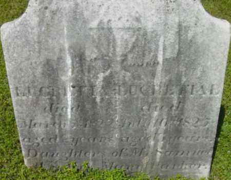 PARKER, EUCRETTA - Berkshire County, Massachusetts | EUCRETTA PARKER - Massachusetts Gravestone Photos