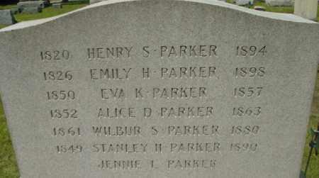 PARKER, HENRY S - Berkshire County, Massachusetts | HENRY S PARKER - Massachusetts Gravestone Photos