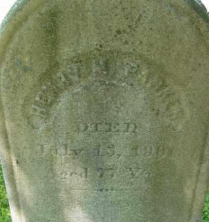 PARKER, HENRY M - Berkshire County, Massachusetts | HENRY M PARKER - Massachusetts Gravestone Photos