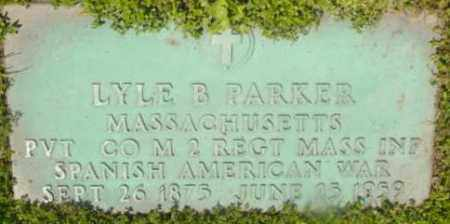 PARKER, LYLE B - Berkshire County, Massachusetts   LYLE B PARKER - Massachusetts Gravestone Photos