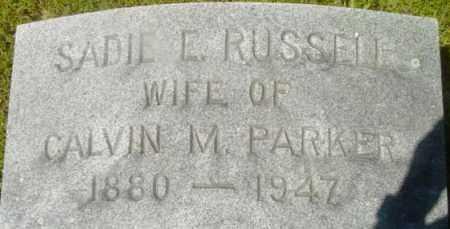 RUSSELL, SADIE E - Berkshire County, Massachusetts | SADIE E RUSSELL - Massachusetts Gravestone Photos