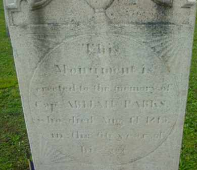 PARKS (RW), ABIJAH - Berkshire County, Massachusetts | ABIJAH PARKS (RW) - Massachusetts Gravestone Photos