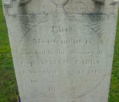 PARKS (RW), ABIJAH - Berkshire County, Massachusetts | ABIJAH PARKS (RW) - Massachusetts Gravestone Photos