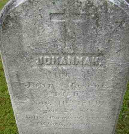 PASCOE, JOHANNAH - Berkshire County, Massachusetts | JOHANNAH PASCOE - Massachusetts Gravestone Photos