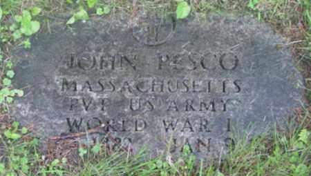 PESCO, JOHN - Berkshire County, Massachusetts | JOHN PESCO - Massachusetts Gravestone Photos