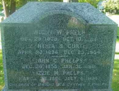 CURTIS, CYNTHIA S - Berkshire County, Massachusetts   CYNTHIA S CURTIS - Massachusetts Gravestone Photos