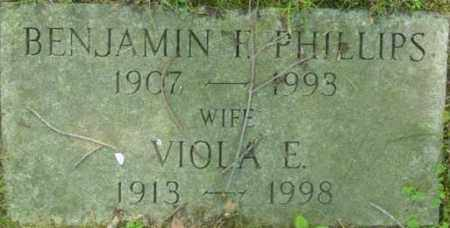 PHILLIPS, VIOLA E - Berkshire County, Massachusetts | VIOLA E PHILLIPS - Massachusetts Gravestone Photos