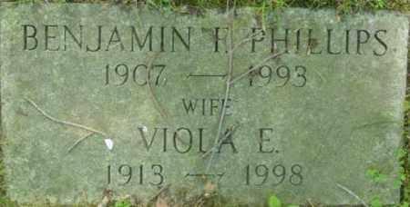 PHILLIPS, BENJAMIN F - Berkshire County, Massachusetts | BENJAMIN F PHILLIPS - Massachusetts Gravestone Photos