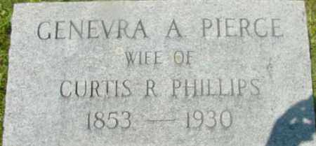 PHILLIPS, GENEVRA A - Berkshire County, Massachusetts | GENEVRA A PHILLIPS - Massachusetts Gravestone Photos