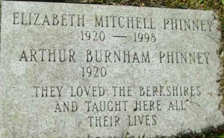 MITCHELL PHINNEY, ELIZABETH - Berkshire County, Massachusetts | ELIZABETH MITCHELL PHINNEY - Massachusetts Gravestone Photos