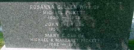 PICKETT, ROSANNA - Berkshire County, Massachusetts | ROSANNA PICKETT - Massachusetts Gravestone Photos
