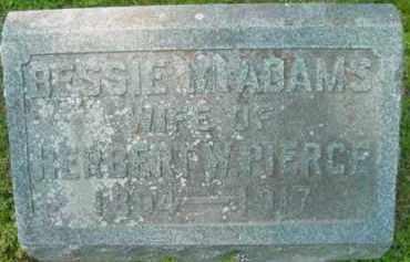 PIERCE, BESSIE M - Berkshire County, Massachusetts   BESSIE M PIERCE - Massachusetts Gravestone Photos