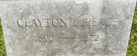 PIERCE, CLAYTON T - Berkshire County, Massachusetts | CLAYTON T PIERCE - Massachusetts Gravestone Photos