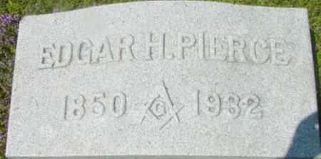 PIERCE, EDGAR H - Berkshire County, Massachusetts   EDGAR H PIERCE - Massachusetts Gravestone Photos