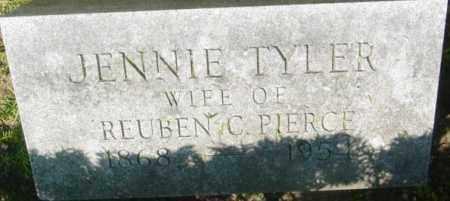 PIERCE, JENNIE - Berkshire County, Massachusetts | JENNIE PIERCE - Massachusetts Gravestone Photos
