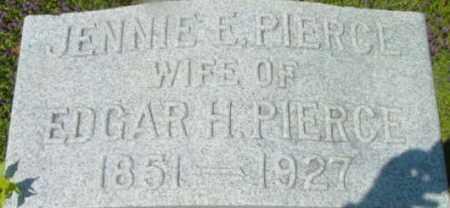 PIERCE, JENNIE E - Berkshire County, Massachusetts | JENNIE E PIERCE - Massachusetts Gravestone Photos