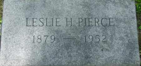 PIERCE, LESLIE H - Berkshire County, Massachusetts | LESLIE H PIERCE - Massachusetts Gravestone Photos
