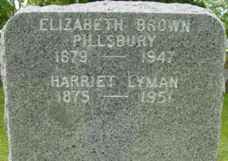 PILLSBURY, ELIZABETH - Berkshire County, Massachusetts | ELIZABETH PILLSBURY - Massachusetts Gravestone Photos