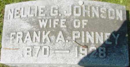 JOHNSON PINNEY, NELLIE G - Berkshire County, Massachusetts | NELLIE G JOHNSON PINNEY - Massachusetts Gravestone Photos