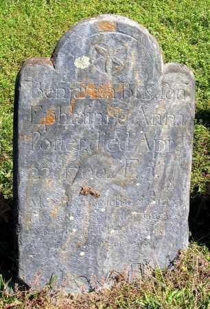 PORTER, BENJAMIN BLIS - Berkshire County, Massachusetts   BENJAMIN BLIS PORTER - Massachusetts Gravestone Photos