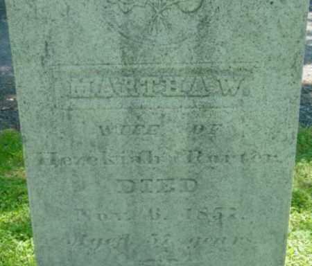 PORTER, MARTHA W - Berkshire County, Massachusetts   MARTHA W PORTER - Massachusetts Gravestone Photos