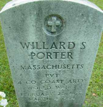 PORTER, WILLARD S - Berkshire County, Massachusetts   WILLARD S PORTER - Massachusetts Gravestone Photos