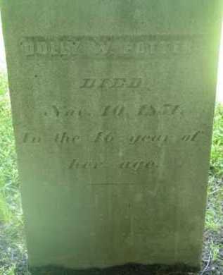 POTTER, DOLLY W - Berkshire County, Massachusetts | DOLLY W POTTER - Massachusetts Gravestone Photos